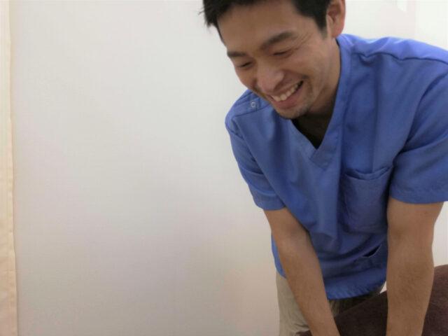 施術中の写真
